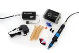 Das FDD Starter Kit von ViscoTec beinhaltet neben dem Druckkopf auch hilfreiches Zubehör