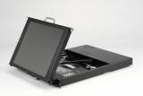 """19"""" Keyboard-Monitor-Einschub mit Dual-Rail-Technik"""