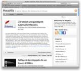 Web-Portal Mac@Biz mit Office-Lösungen für Mac OS X.
