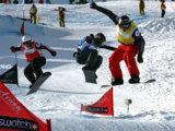 Packende Duelle werden sich die Teilnehmer am Weltcup-Finale im Snowboard-Cross liefern.