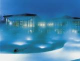 Abendstimmung im Aquarena, einem der beiden Thermalbäder von Schinznach-Bad.