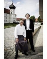 Der künstlerische Leiter Mark Mast (rechts) und Spitzenkoch Fritz Schilling.