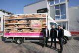 Prämierte Beschriftung: das Fahrzeug der Bäckerei Wiesender.