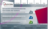 Im neuen Corporate Design: Die Website von ADVERMA Markenkommunikation.