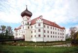 """Wird am Wochenende zur """"Genussakademie"""": Das prachtvoll renovierte Wasserschloss Hohenkammer."""