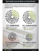 Infografik: Viele Privatnutzer verursachen unliebsame Inhalte im Internet zur eigenen Person selbst