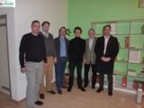 Von li. nach re.: Kienbaum, Kanzenbach, Singendonk,  Schmid, Strache mit Trainer Fischer