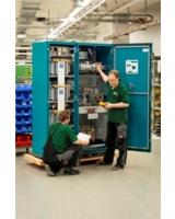 Blindstromrichter Produktion von PCS in Berlin - PCS und Rittal auf der Husum WindEnergy 2012