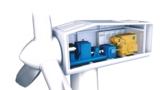 PCS Green Line Vollumrichter und VEM Synchrongenerator in der Gondel einer Windkraftanlage