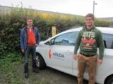 Tanken in einer Stunde ihr E-Mobil wieder voll: An Heldeles Stromtankstelle