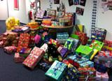 Weihnachtspäckchen von beDirect-Mitarbeitern für bedürftige Kinder