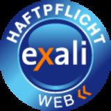 Das Berufshaftpflicht-Siegel von exali einbinden und in Sachen Eigenmarketing punkten.