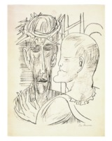 "Max Beckmann, ""Christus und Pilatus"", 1946, Copyright VG Bild-Kunst, Bonn 2015.jpg"