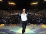 """Auf der Bühne des Weserstadions anlässlich eines Konzertes seiner """"History Tour"""", Bremen, 6.6 1997"""