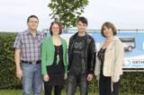 Geschäftsführer und Personalleiterin begrüßten Christina Unterreitmeier und Stefan Mittermaier