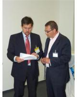Walter Trezek, Aufsichtsrat Nutzergenossenschaft und Andreas Schumann, Vorstand internetPost AG