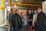 Die Gäste besichtigten u.a. ein Blockheizkraftwerk, das sich auf dem Eckert-Gelände befindet.