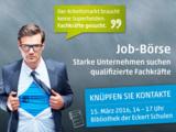 Zur Jobbörse am 15. März 2016 stellen über 50 Unternehmen ihre Stellenangebote vor.