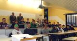 Teilnehmer bei ihrem 1. Seminartag mit Kursl. Kurt Sigler li. und Geschäftsführer Willy Ebneth re.