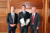v.l. A. Eckert Frhr. v. Waldenfels, Gerhard Leonhard Steininger und Willy Ebneth