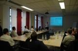 Carsten Sckopke während seines Vortrages beim ersten Treffen der LabVIEW User Group Stuttgart.