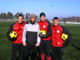 Ralf Ohrmann im Training mit Profis vom SV Wehen Wiesbaden