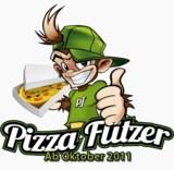 Das Logo und Maskottchen von Pizza-Flitzer