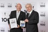 Preisübergabe durch Lothar Späth and Horst Heiman, Geschäftsführer HUGO BECK