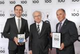 Lothar Späth überreicht Top 100 Gütesiegel
