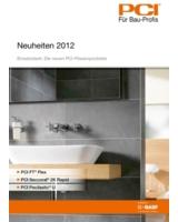 """Die Broschüre """"Neuheiten 2012"""" der PCI Augsburg GmbH"""