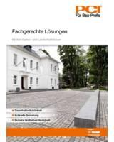 """Speziallösungen für den GaLa-Bau-Experten bietet die PCI-Broschüre """"Fachgerechte Lösungen""""."""