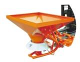 Anbaustreuer mit hydraulischem Antrieb und Gabelzinkenaufnahme
