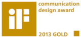 Goldener iF design award 2013 für das Parador-Messedesign der D'art Design Gruppe.