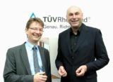 Dr. Stefan Poppelreuter, TÜV Rheinland, und Michael Kaschytza, DOMSET