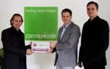 Herr Markus Hirsch (e-Spirit), Philip Mews und Thomas Kopatz (Communicode)