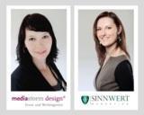Katrin Steffen, mediastorm design und Rita Löschke, SinnWert Marketing GmbH