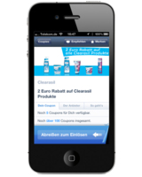 Mobile Couponing mit COUPIES - 2,-€ Clearasil-Coupon bei SCHLECKER