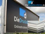 Bei DieDruckdienstleister.de Firmenschilder und Bautafeln im großformatigen Plattendruck