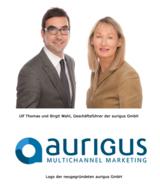 Ulf Thomas und Birgit Wahl, Geschäftsführer der aurigus GmbH Logo der aurigus GmbH