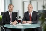 Die Geschäftsführer der TECHNO Pensions-Management GmbH Thomas Leitz (li) und Jens Brandenburger.