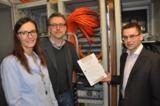 Claudia Pohl, Geschäftsführerin PCT, Ralf Adebar, IT-Auditor und Oliver Höhle
