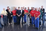 Die Geschäftsführer von Hymer-Leichtmetallbau ehrten die diesjährigen Arbeitsjubilare