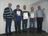 von links: Bernd Kögl, Martin Schupetta, Franz Josef Keßler, Istvan Farkas, Michael Fischer