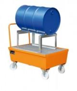 Auffangwannen gibt es auch mit Rädern oder speziell für Fässer