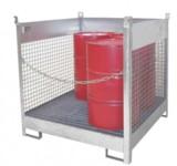 Fass-Stapel-Paletten ermöglichen die platzsparende Lagerung von Fässern