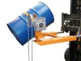 Fasskipper für Gabelstapler mit manuellem Kippmechanismus