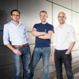 Die auxmoney-Gründer (v.l.) Philip Kamp, Philipp Kriependorf und Raffael Johnen