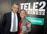 Alfred Pufitsch, CEO Tele2 Österreich und Maria Seltner, Head of Corporate Communications Tele2.