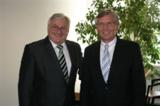 Armin Truksa (Ricoh Deutschland), mit Hartmut Bahr (SEG)