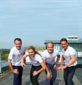 4 der 5 Teilnehmer von Ricoh Deutschland: Mohamad Jaber, Nicole David, Arne Neumann u. Patrick Vogt